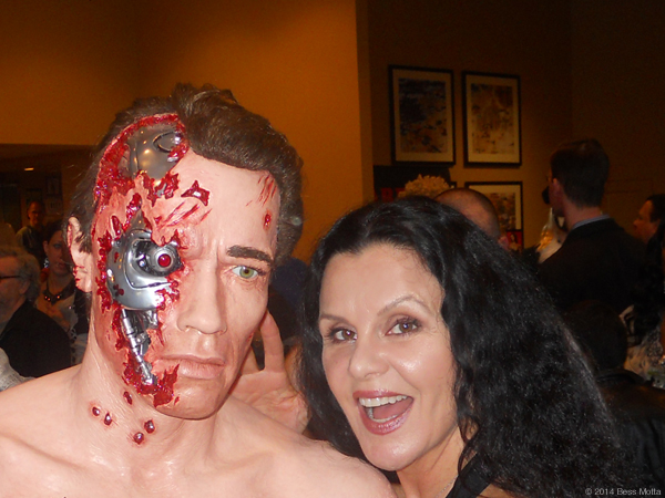 Bess Motta ('Ginger') meets the Terminator at Chiller Theatre Expo